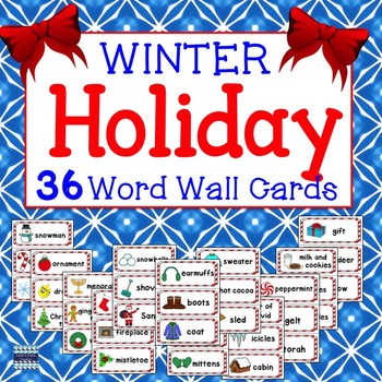 Winter Holiday Word Cards