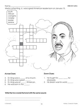 Winter Holiday Word Search & Crossword Puzzles