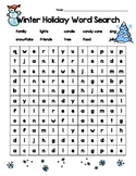 Winter Holiday Word Search - Free!