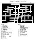 Winter Holiday Word Search and Crossword Puzzle with KEYS