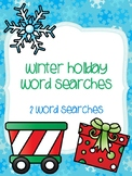Winter Holiday Word Searches!