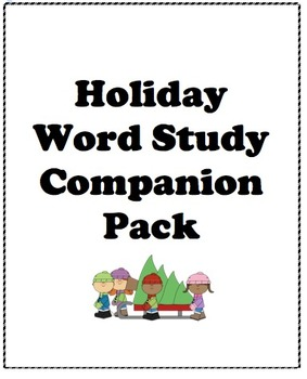Winter Holiday Word Study Companion Pack