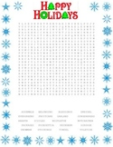 Winter Holiday Wordsearch