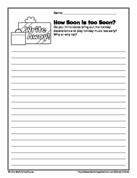 Winter Holiday Write Away Writing Prompts