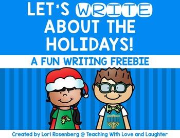 Winter Holiday Writing Freebie