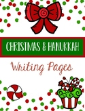 Winter Holiday Writing Pages