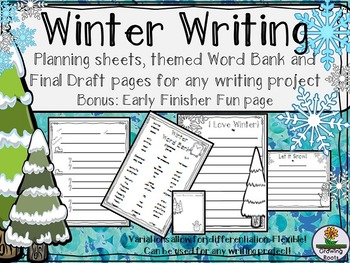 Winter/Holiday Writing Set: Plan & Publish