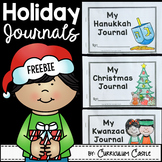 Winter Holiday Journals: Christmas, Hanukkah & Kwanzaa