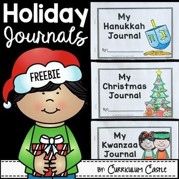 Winter Holiday Journals: Christmas, Hanukkah & Kwanzaa
