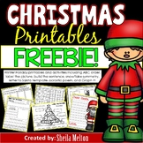 Winter Holidays Activities FREEBIE!