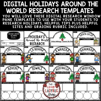 Digital Winter Holidays Around The World Research Project Paperless Activities