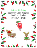 Winter Christmas Packet - NO PREP Holiday Work Early Finishers, Centers ELA Math