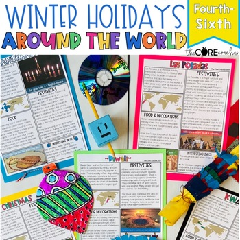 Winter Holidays Around the World Mini-Unit: Integrated ELA, SS, Art Pack (4-6)