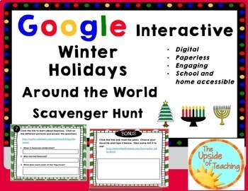 Winter Holidays Around the World: A Digital Scavenger Hunt