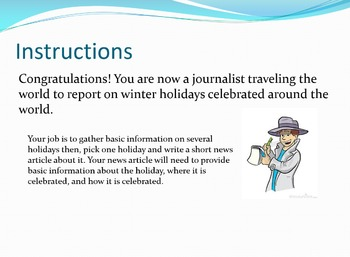 Winter Holidays Around the World: A WebQuest