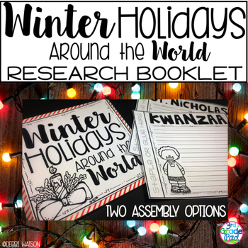 Winter Holidays Around the World Booklet: Staple & Go or Target Booklet