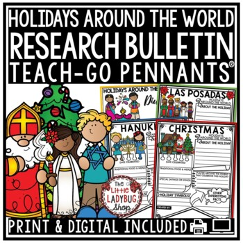 Winter Holiday Around the World Bundle & Christmas Around World Research Project