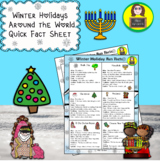 Winter Holidays Around the World Fact Sheet