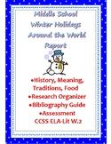 Winter Holidays Around the World Report 6-8: Christmas and MORE