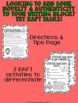 Winter Holidays Around the World Research RAFT Writing Task