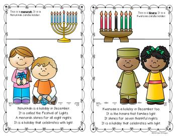 {Winter Holidays Around Our World} Reader for First Grade and Kindergarten