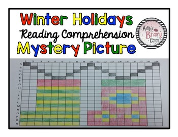 Winter Holidays Around the World: Reading Comprehension Mystery Picture