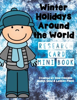 Winter Holidays Around the World: Research Card Mini Book