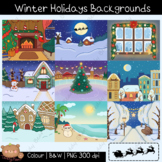 Winter Holidays Backgrounds ClipArt | Christmas | New Year
