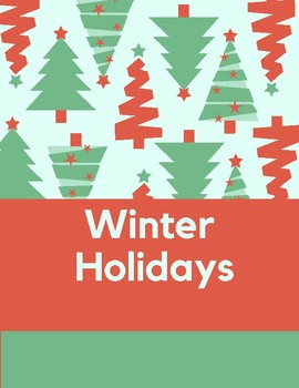 Winter Holidays Binder Cover