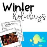 Winter Holidays Bulletin Board