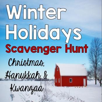 Winter Holidays Bundle {Christmas, Hanukkah, Kwanzaa}: 2 Activities!