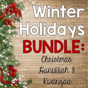 Christmas Hanukkah Kwanzaa And Other Holidays.Winter Holidays Bundle 2 Activities