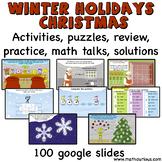 Winter Holidays- Christmas Digital Activity cards