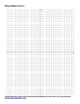 Winter Holidays Coordinate Plane Connect the Dots 3-pack Mini-Booklet 1