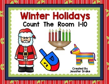 Winter Holidays Count the Room 1-10