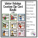 #Hot Winter Winter Holidays Counting (1-20) Clip Card Bundle