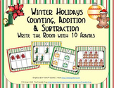 Winter Holidays Counting, Addition & Subtraction with Ten Frames {Subitizing}