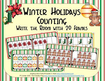 Winter Holidays Counting with 20 Frames {Subitizing}