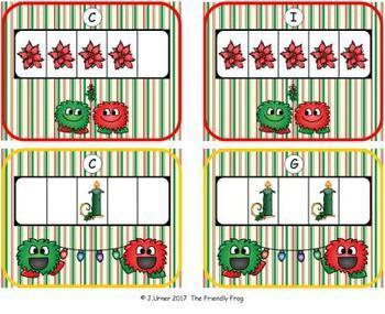 Winter Holidays Counting with 5 Frames {Subitizing}