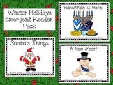 Winter Holidays Emergent Reader Pack