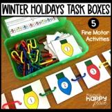 Winter Holidays Fine Motor Skills Task Boxes - Christmas, Hanukkah, Kwanzaa