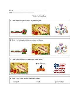 Winter Holidays Flashcards and Quiz