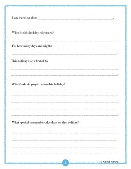 Winter Holidays Guided Inquiry