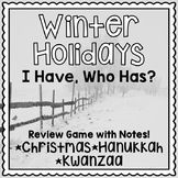 Winter Holidays Activity - Christmas, Hanukkah, Kwanzaa