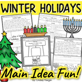 Winter Holidays Main Idea and Details Activities