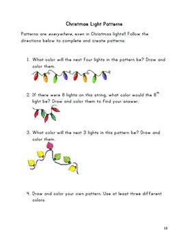 Winter Holidays Math Activity Pack Grades 2-4