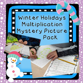 Winter Holidays Multiplication Mystery Pictures