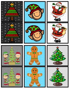 Winter Holidays Partner Pairing Cards- 30 Pairs- 6 Holidays Included