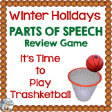 Winter Holidays Grammar Game (Nouns, Verbs, Adjectives, Adverbs, Prepositions)