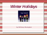 Winter Holidays Powerpoint lesson- Christmas, Hanukkah and Kwanzaa